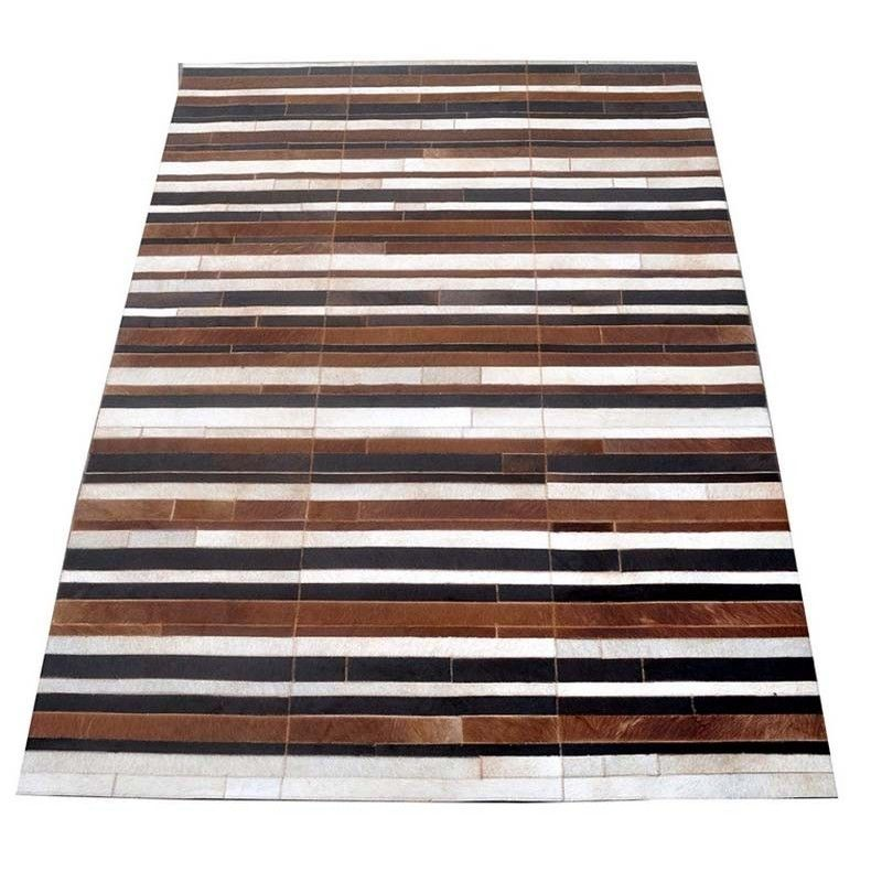 Cowhide Area Rug Patchwork, 45x24 in, Area Rugs Living Room