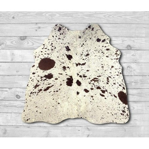 Cowhide Area Rug 53x53 in