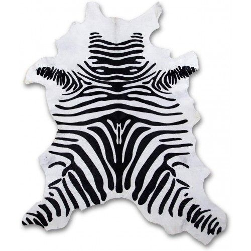 Cowhide Area Rug as Zebra...