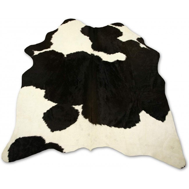 Premium Natural Cowhide Area Rug 55x51 inches.
