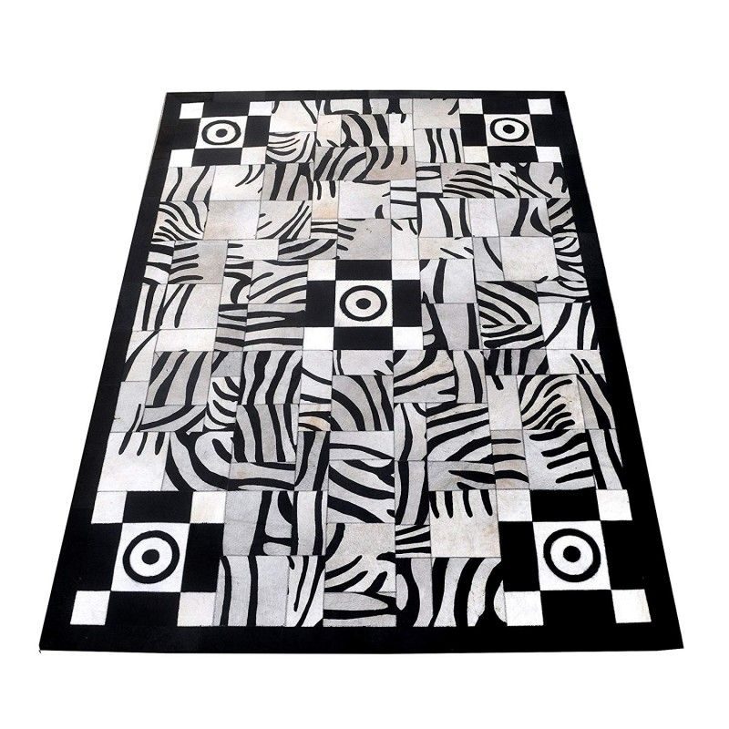 Cowhide Area Rug, 66x94 in, Area Rugs for Living Room, Natural Carpet