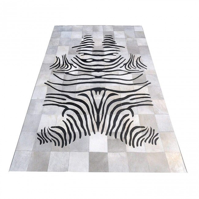 Cowhide Area Rug, 55x78 in, Area Rugs for Living Room, Natural Carpet