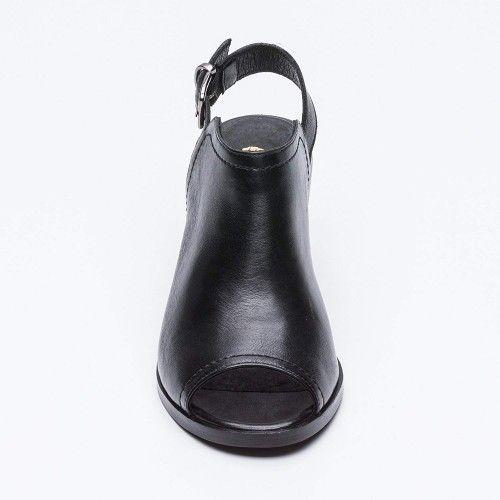 Bottines en cuir style peep...