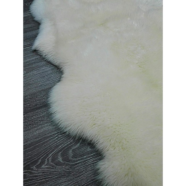 Lambskin Area Rug, 39x75 in, Children Area Rug, Area Rug Living Room