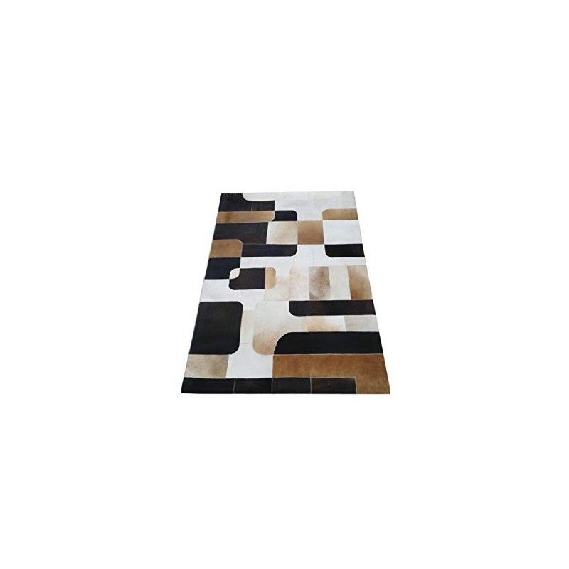 Cowhide Area Rug Patchwork, 94x118 in, Area Rugs Living Room 1