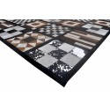 Cowhide Area Rug Patchwork, 72x95 in, Area Rugs Living Room