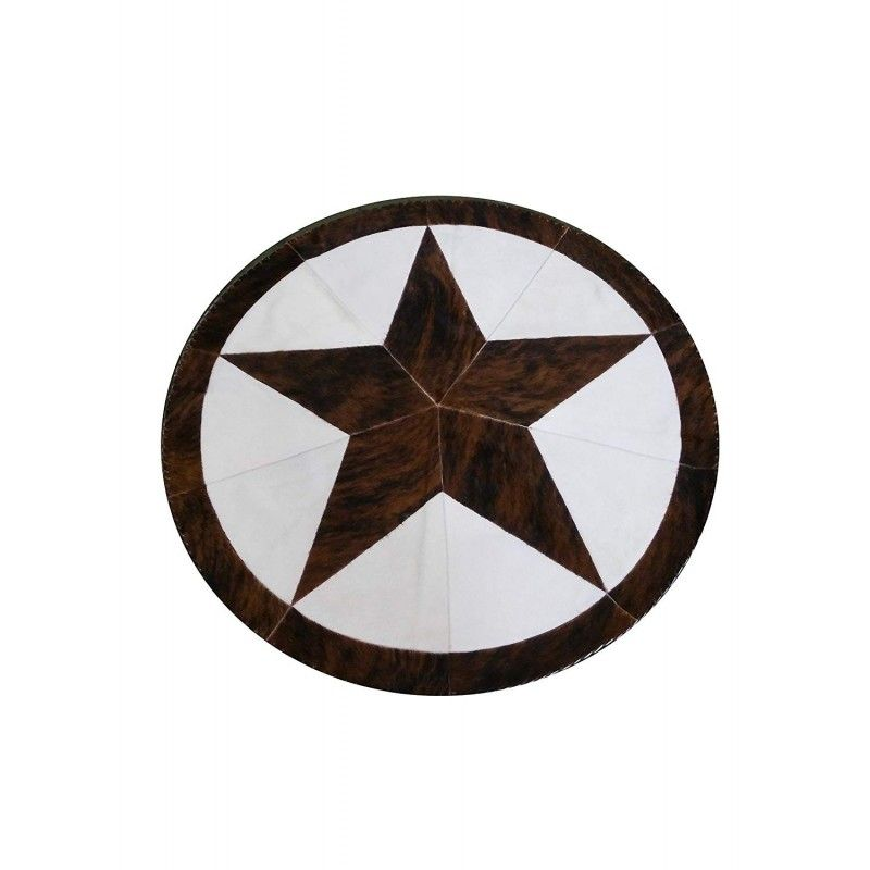 Cowhide Area Rug, 57 in, Area Rug Living Room, Natural Carpets