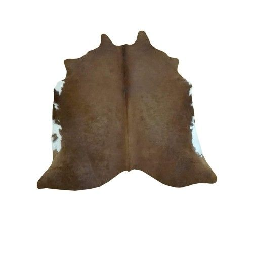 Cowhide Area Rug, 68x64 in,...