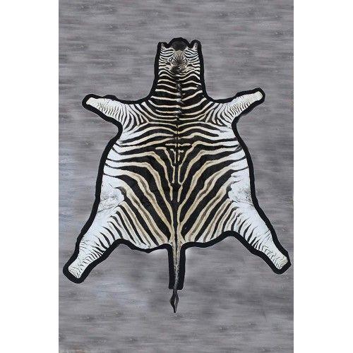 Zebra Area Rug, 94x78 in,...