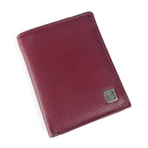 Portefeuille en cuir 8x10,5 cm
