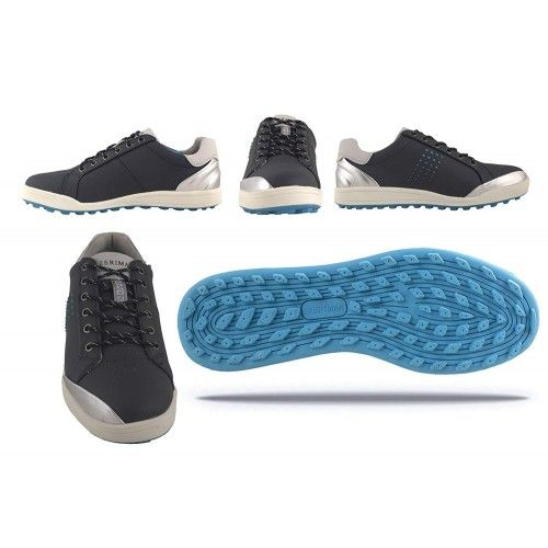 Skórzane buty golfowe z...
