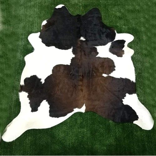Cowhide Area Rug, 74x74 in,...