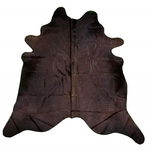 Cowhide Area Rug, 94x86 in,...