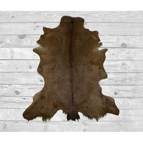 Goat Area Rug, 39x23 in,...