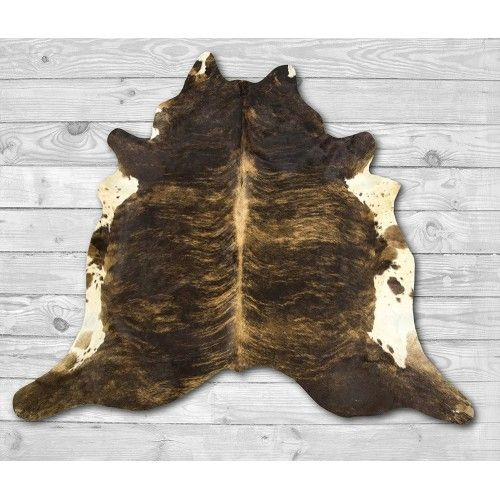 Cowhide Area Rug, 86x78 in,...