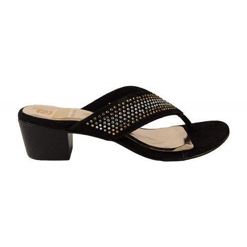 Sandalen mit glänzendem...