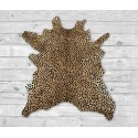 Cowhide Area Rug Tinted Cheeta 47x41 in, Area Rugs for Living Room