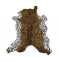 Cowhide Area Rug Tinted Cheeta 49x35 in, Area Rugs for Living Room