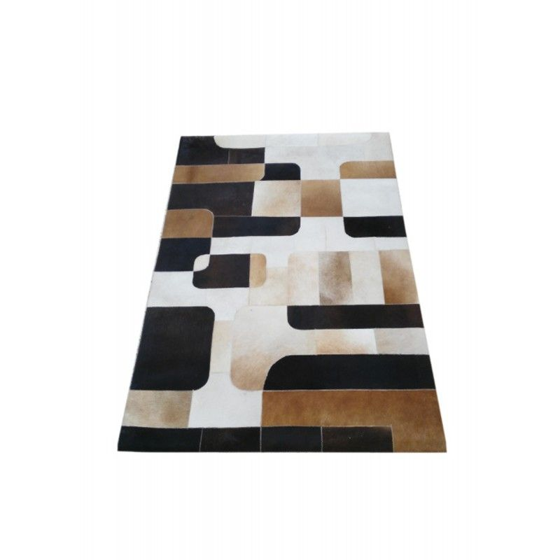 Cowhide Area Rug Patchwork, 70x92 in, Area Rugs Living Room