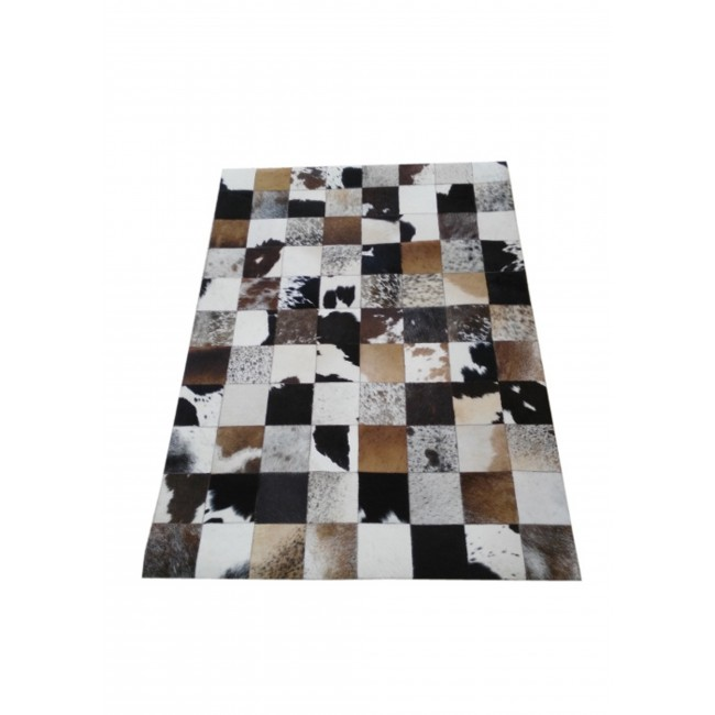 Cowhide Area Rug Patchwork, 94x118 in, Area Rugs Living Room 3