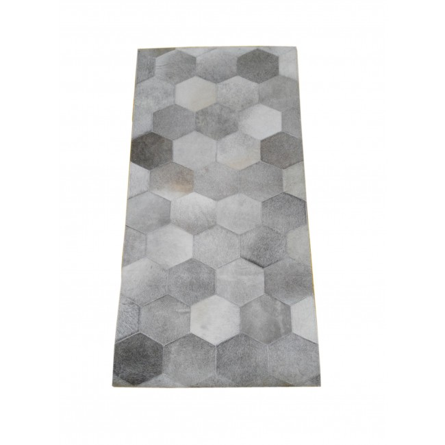 Cowhide Area Rug Patchwork, 23x47 in, Area Rugs Living Room 2