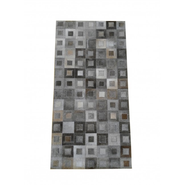 Cowhide Area Rug Patchwork, 27x55 in, Area Rugs Living Room 2