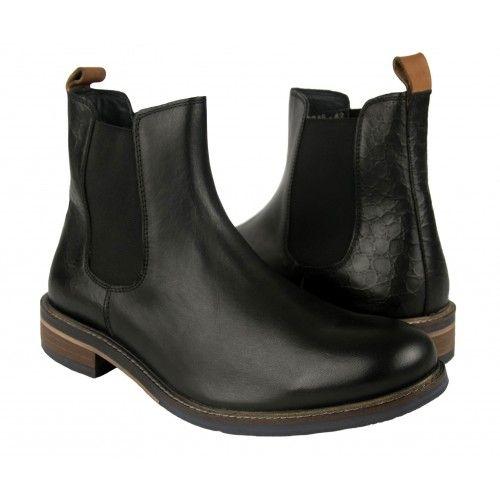 Botas basicas de piel con...
