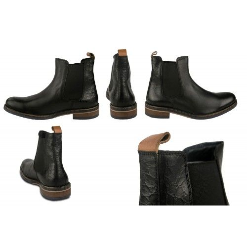 Basic leather boots with...