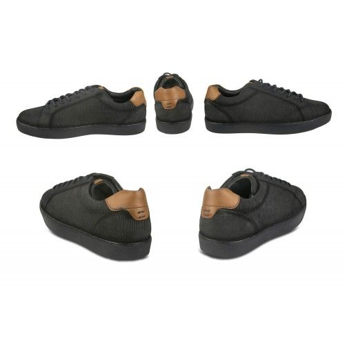 Sneakers basse in pelle con...