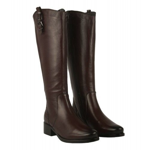 High riding boots with zip...