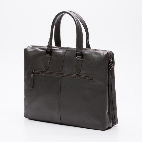 Leather grey briefcase for...