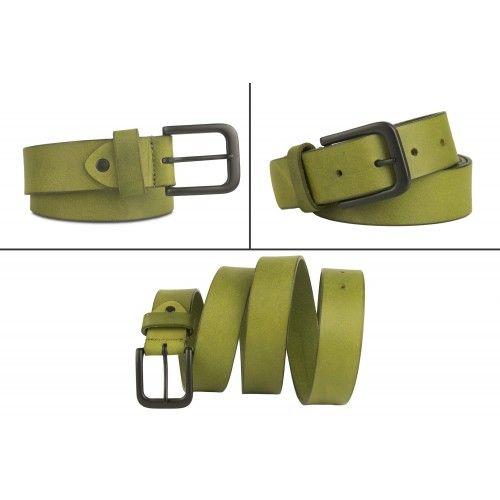 Cinturon de piel de color...