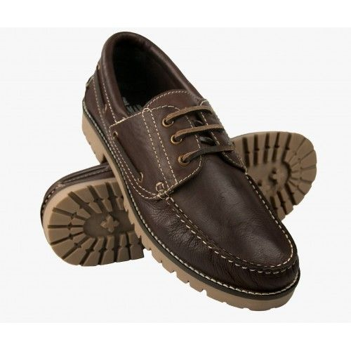Leather nautical with laces...