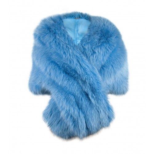 Light Blue Fox Fur Stole