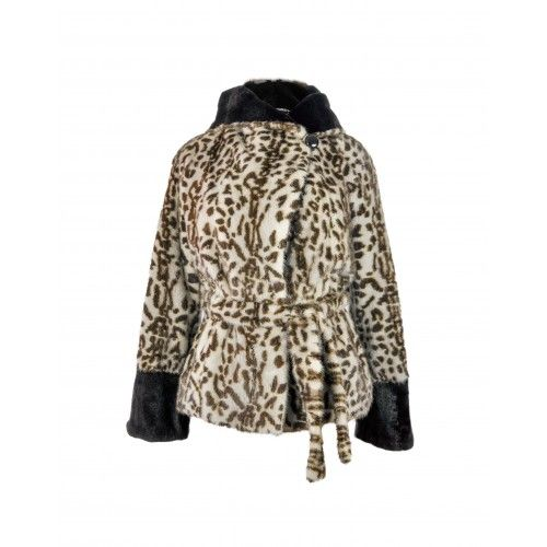 Mink jacket with animal...