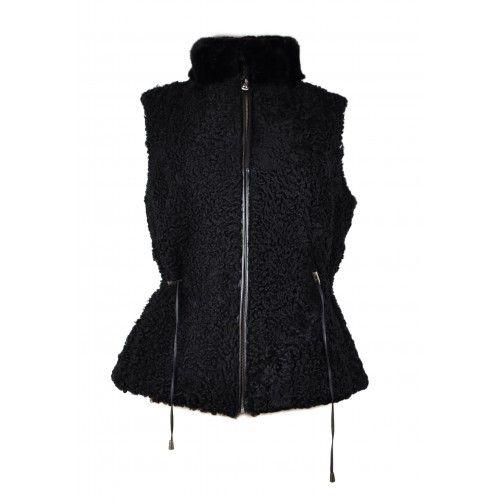 Black vest with zip and...