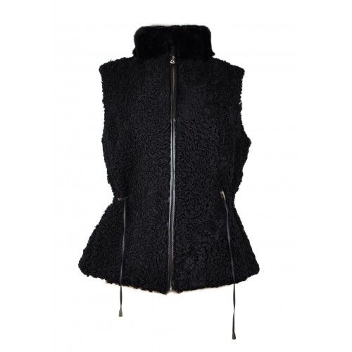 Black vest with zip and...