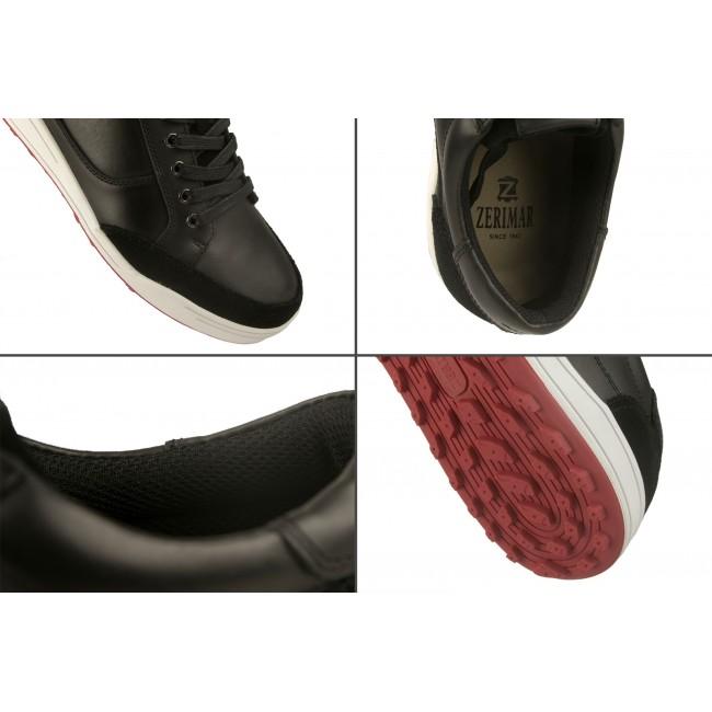 Zapatos de golf de piel con cordones y textura velvet