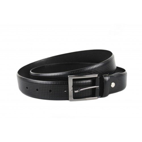 Men's leather belt with...
