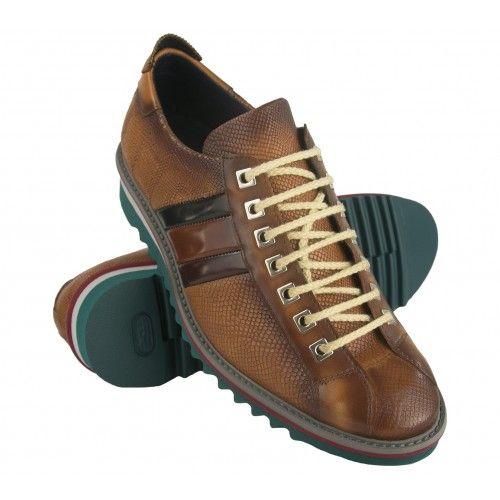 Zapato sneakers de piel con...