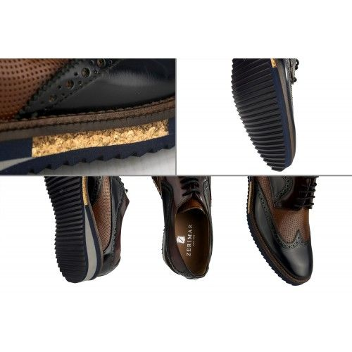 Oxford leather shoes with...