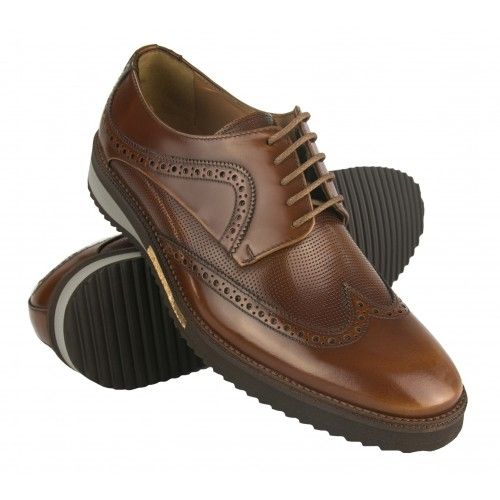 Brown leather oxford shoes...