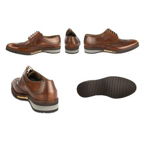 Zapatos oxford de piel...