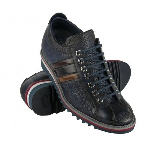 Leather sneakers with 7 cm...