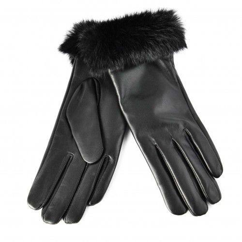 Women's leather gloves with...