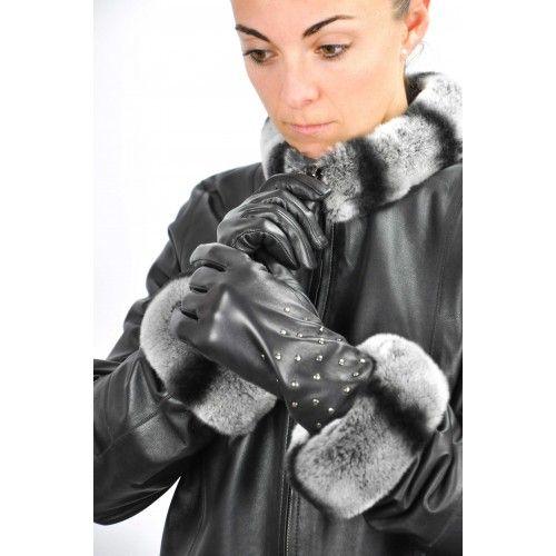 Skórzane rękawiczki damskie...
