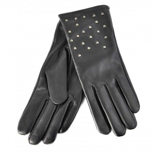 Studded leather gloves for...