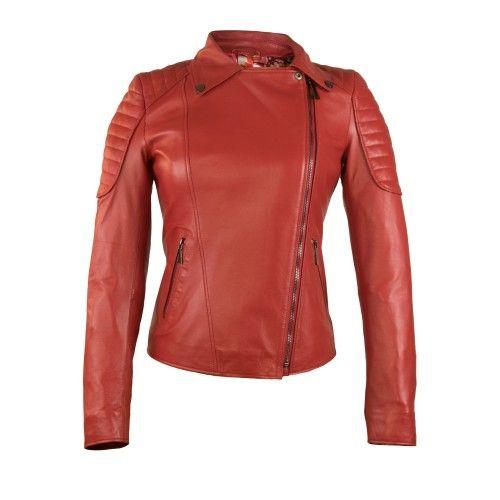 Biker-style leather jacket...