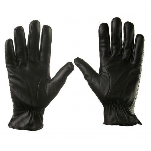 Gloves made of leather and...