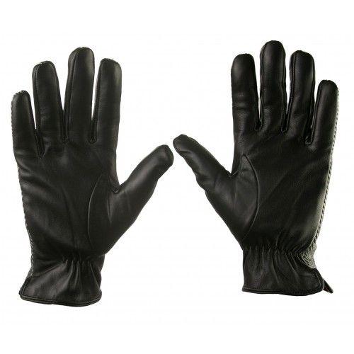 Rękawice wykonane ze skóry...